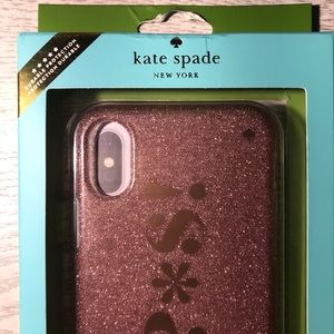 Kate Spade ♠️ cellphone case NWT iPhone X RoseGold